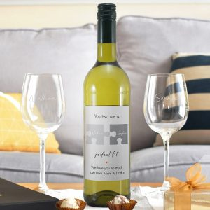 Personalised Perfect Fit White Wine Gift Set