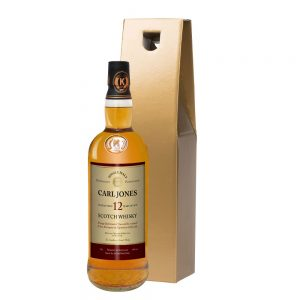 Personalised Retirement 12 Year Old Malt Whisky & Gold Gift Box