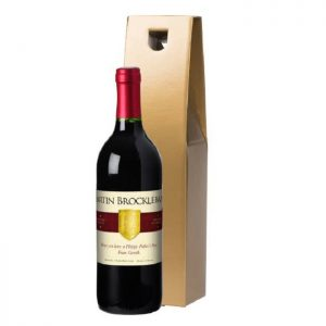 Personalised Shield Red Wine & Gold Gift Box