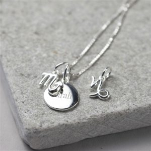Personalised Sterling Silver Star Sign Necklace