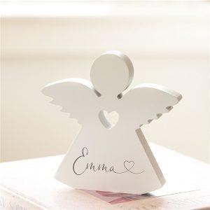 Personalised Wooden Name Angel