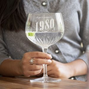 Personalised Year To Remember Crystal Cut Gin Glass