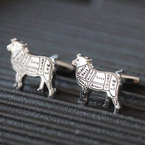 Sheep Cufflinks & Personalised Gift Box
