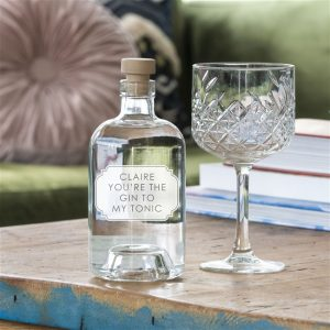 'Gin To My Tonic' Engraved Botanical Gin