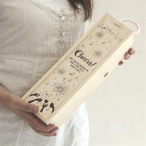 Personalised Cheers! Wine Box