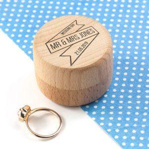 Personalised Couples Wedding Ring Box
