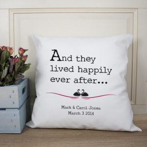 Personalised Fairytale Couples Cushion Cover