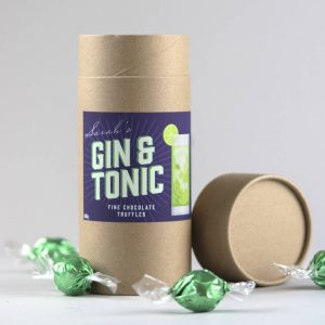 Personalised Gin And Tonic Chocolate Truffles