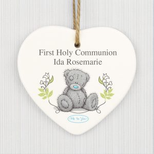 Personalised Me To You Religious Ceramic Heart Decoration