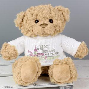 Personalised Pink Church Teddy Bear