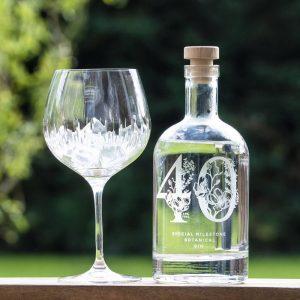 Premium Engraved Special Milestone Botanical Gin