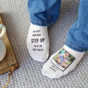 Best Brother Best Uncle Photo Upload Socks