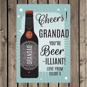 Personalised Beer-illiant Metal Sign