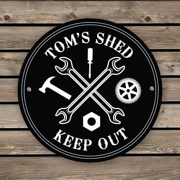 Personalised Black Garage Sign
