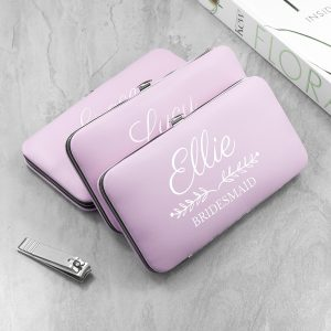 Personalised Bridal Party Pink Manicure Set