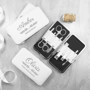 Personalised Bridal Party White Manicure Set