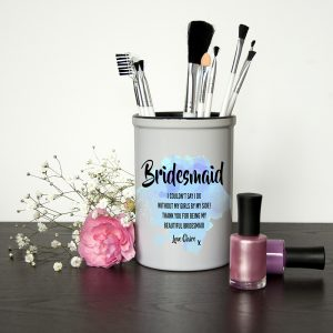 Personalised Bridesmaid Blue Champagne Bucket
