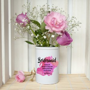 Personalised Bridesmaid Pink Champagne Bucket