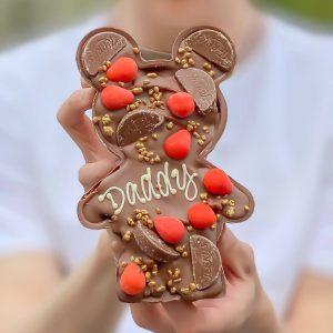 Personalised Chocolate Orange Loaded Papa & Baby Bear