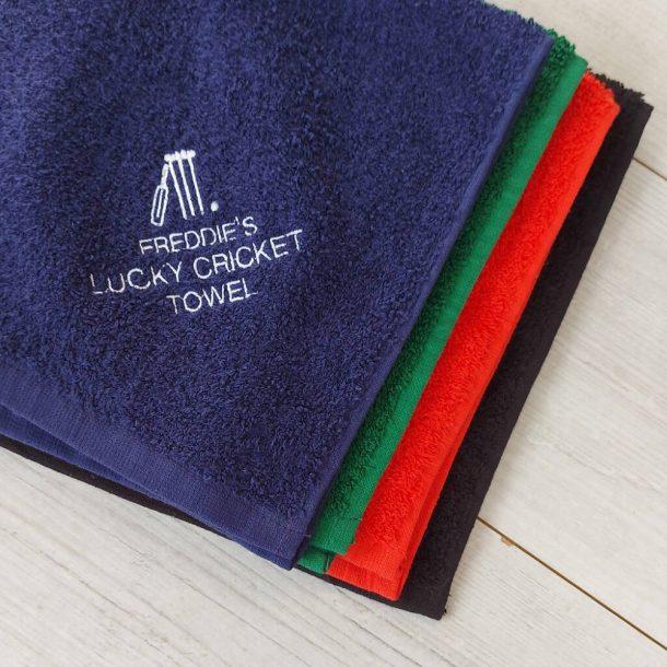 Personalised Cricket Towel