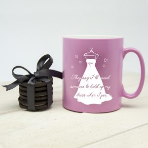Personalised Help Me Bridesmaid Mug