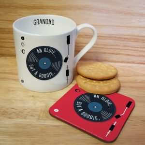 Personalised HotchPotch Oldie But A Goodie Mug & Coaster