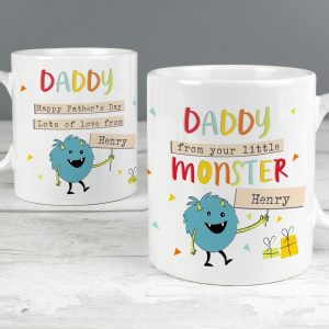 Personalised Little Monster Mug