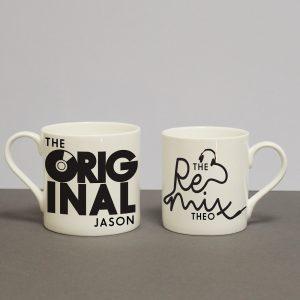 Personalised Original & Remix Mug Set
