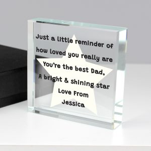 Personalised Star Poem Large Crystal Token
