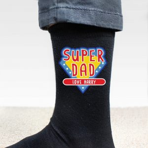 Personalised Super Dad Men's Socks