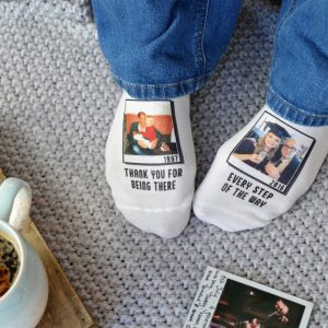 With you Every Step of the Way Photo Upload Socks