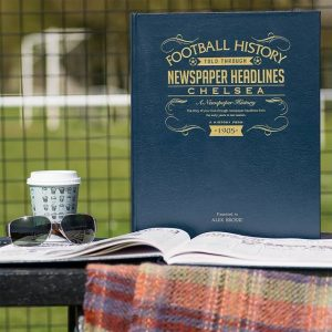 Personalised Chelsea A3 Leather Cover Football Newspaper Book