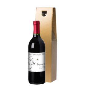 Personalised Chilli & Bubbles Graduation Red Wine