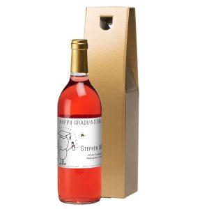 Personalised Chilli & Bubbles Graduation Rosé Wine