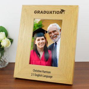 Personalised Graduation 4x6 Oak Finish Photo Frame