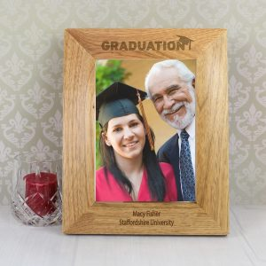 Personalised Graduation 5x7 Wooden Photo Frame