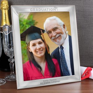 Personalised Graduation 8x10 Silver Photo Frame