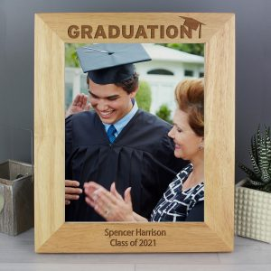 Personalised Graduation 8x10 Wooden Photo Frame