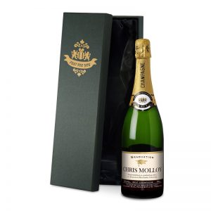 Personalised Graduation Champagne & Silk Lined Gift Box