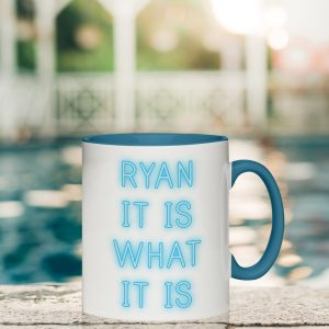 Personalised Island Inspired It Is What It Is Mug