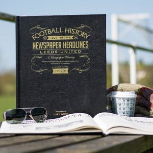 Personalised Leeds United A3 Leather Cover Football Newspaper Book