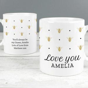Personalised Queen Bee Mug