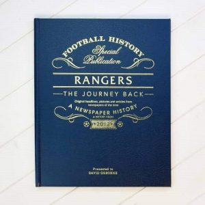 Personalised Rangers Football Book The Journey Back