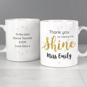 Personalised Shine Teacher Mug