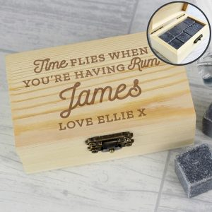 Personalised Time Flies When You're Having Rum Cooling Stones