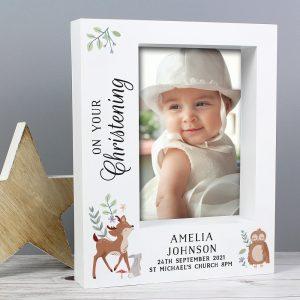 Personalised Woodland Animals 5x7 Box Frame