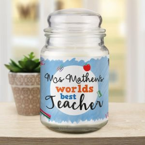 Personalised World's Best Teacher Candle Jar