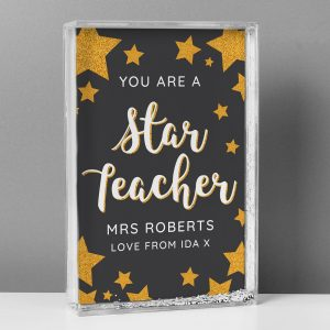 Personalised You Are A Star Teacher Glitter Shaker