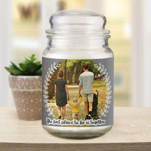 Better Together Photo Upload Candle Jar