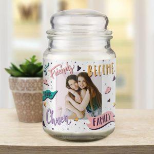 Chosen Family Photo Upload Candle Jar
